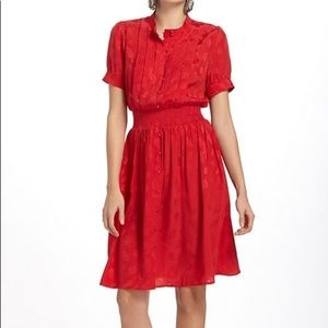 Anthropologie Maple red dress